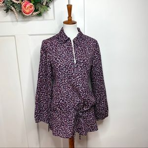 Tory Burch Patterned Speckle Tie awaits Tunic Top